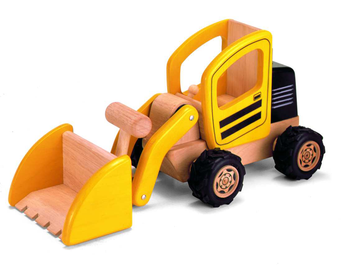 Wheel Loader Wooden Toy Digger by Pintoy
