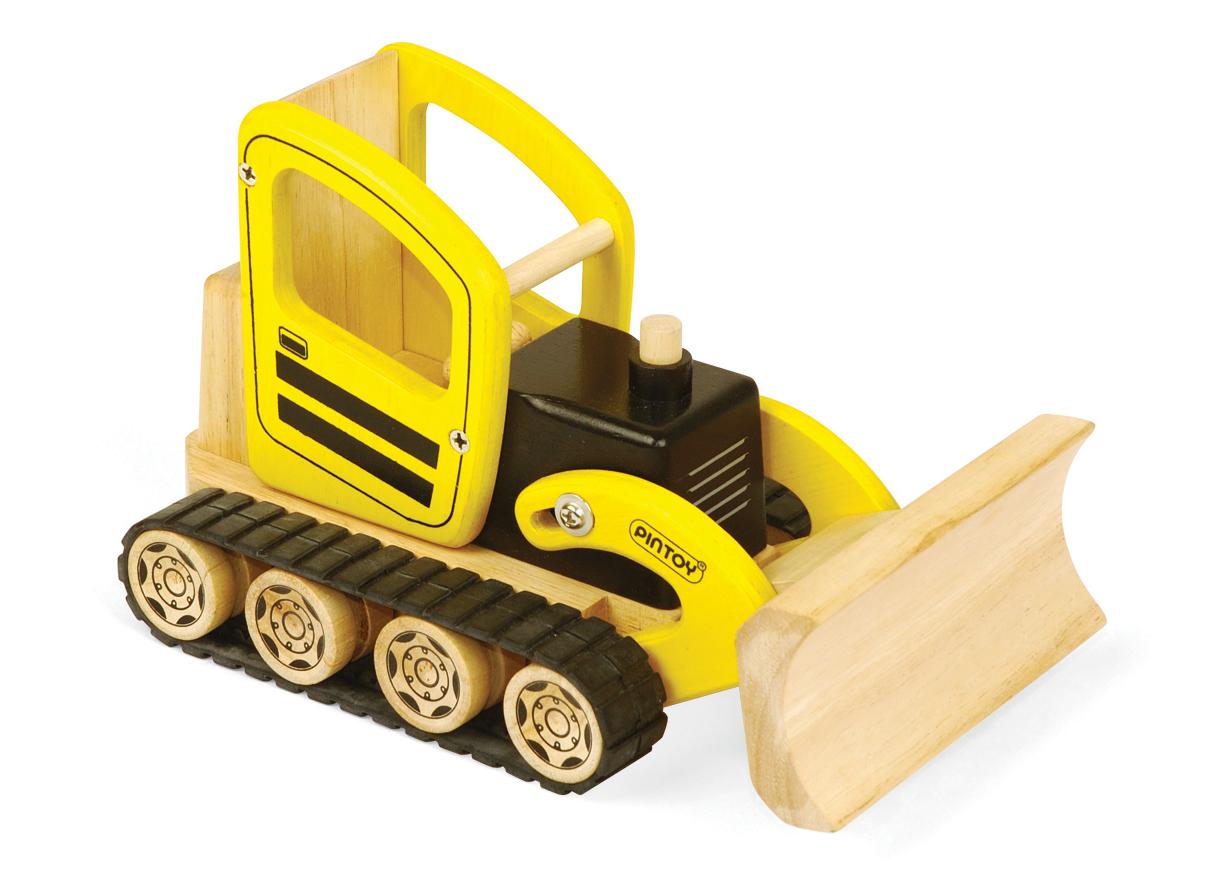 Pintoy Wooden Bulldozer